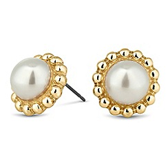 Butterfly by Matthew Williamson - Designer pearl flower stud earring