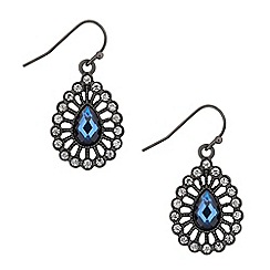 Butterfly by Matthew Williamson - Designer blue teardrop crystal surround earring