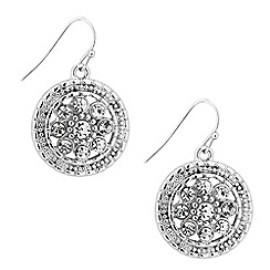 Butterfly by Matthew Williamson - Designer silver filigree coin drop earring