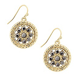 Butterfly by Matthew Williamson - Designer gold filigree coin drop earring