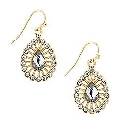 Butterfly by Matthew Williamson - Designer crystal teardrop surround earring