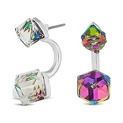 Butterfly by Matthew Williamson - Designer online exclusive crystal cube double front earring