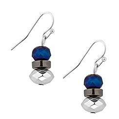 Butterfly by Matthew Williamson - Designer blue bead drop earring