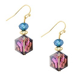 Butterfly by Matthew Williamson - Designer purple bead drop earring