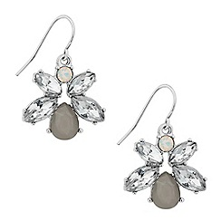 Butterfly by Matthew Williamson - Designer grey crystal navette drop earring