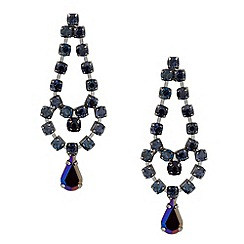 Butterfly by Matthew Williamson - Designer blue diamante peardrop earring