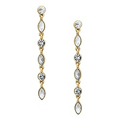 Butterfly by Matthew Williamson - Designer gold crystal linear drop earring