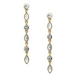 Butterfly by Matthew Williamson - Designer gold crystal linear drop earring