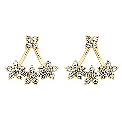 Butterfly by Matthew Williamson - Designer crystal flower swing earring