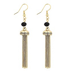 Butterfly by Matthew Williamson - Designer beaded tassel drop earring