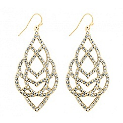 Butterfly by Matthew Williamson - Designer crystal embellished filigree drop earring