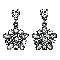 Butterfly by Matthew Williamson - Designer hematite crystal flower drop earring