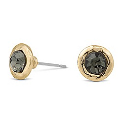 Butterfly by Matthew Williamson - Designer round grey surround stud earring