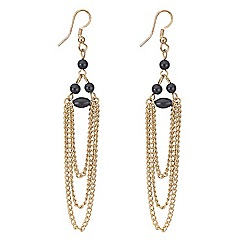 Butterfly by Matthew Williamson - Beaded chain drop earring