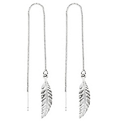 Butterfly by Matthew Williamson - Designer feather chain thread through earring