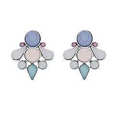 Butterfly by Matthew Williamson - Designer pastel cluster stone stud earring