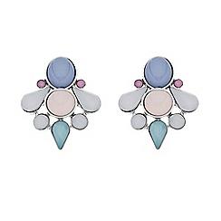 Butterfly by Matthew Williamson - Designer pastel cluster stone stud earring