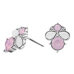 Butterfly by Matthew Williamson - Designer pink cluster stone stud earring