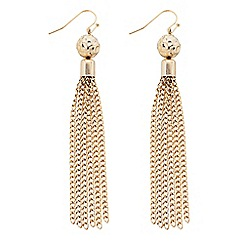 Butterfly by Matthew Williamson - Designer gold ball and tassel drop earring