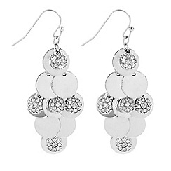 Butterfly by Matthew Williamson - Designer polished and crystal disc shaker earring