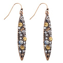 Butterfly by Matthew Williamson - Designer embellished navette drop earring