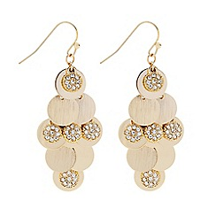 Butterfly by Matthew Williamson - Designer polished and crystal gold disc shaker earring