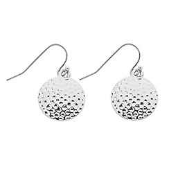 Butterfly by Matthew Williamson - Designer textured silver coin drop earring