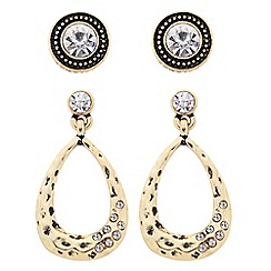 Butterfly by Matthew Williamson - Designer peardrop and crystal stud earring set