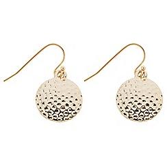 Butterfly by Matthew Williamson - Designer textured gold coin drop earring