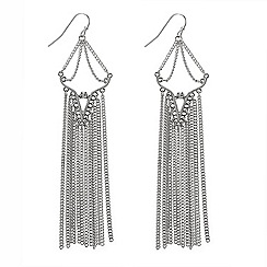 Butterfly by Matthew Williamson - Chain tassle chandelier earring