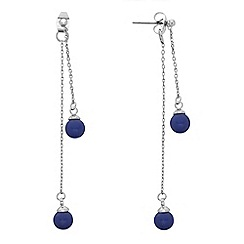 Butterfly by Matthew Williamson - Designer front and back ball chain drop earring