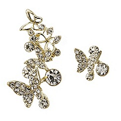 Butterfly by Matthew Williamson - Gold butterfly crystal ear crawler