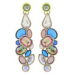 Butterfly by Matthew Williamson - Designer multi colour statement cluster crystal earring