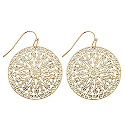 Butterfly by Matthew Williamson - Designer gold filigree disc earring
