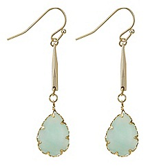Butterfly by Matthew Williamson - Designer teardrop stone stick earring