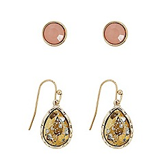 Butterfly by Matthew Williamson - Peardrop crackle glass two pack earring