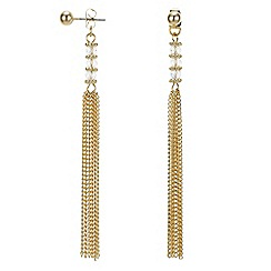 Butterfly by Matthew Williamson - Designer silver chain tassel earring