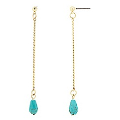 Butterfly by Matthew Williamson - Turquoise bead drop chain earring