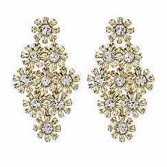 Butterfly by Matthew Williamson - Gold crystal flower earring set
