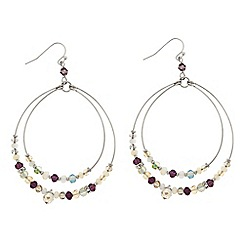 Butterfly by Matthew Williamson - Designer Mixed bead threaded hoop earring