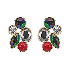 Butterfly by Matthew Williamson - Designer Round stone cluster earrings