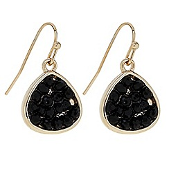 Butterfly by Matthew Williamson - Designer Black crystal peardrop earring
