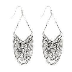 Butterfly by Matthew Williamson - Designer Silver chain drop chandelier earring