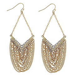 Butterfly by Matthew Williamson - Designer Gold chain chandelier earring