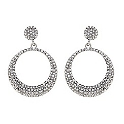 Butterfly by Matthew Williamson - Designer Silver pave circle drop earring