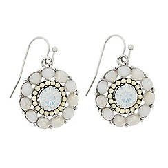 Butterfly by Matthew Williamson - Designer beaded circle drop earring