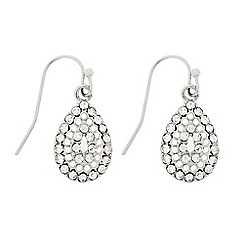 Butterfly by Matthew Williamson - Designer Silver crystal mini peardrop earring