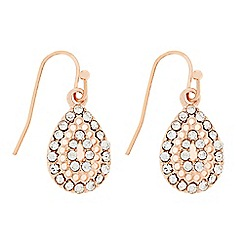 Butterfly by Matthew Williamson - Designer Rose gold crystal mini peardrop earring