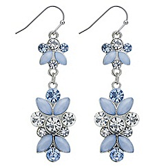 Butterfly by Matthew Williamson - Designer blue crystal chandelier earring