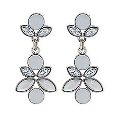 Butterfly by Matthew Williamson - Designer Crystal cluster double drop statement earrings